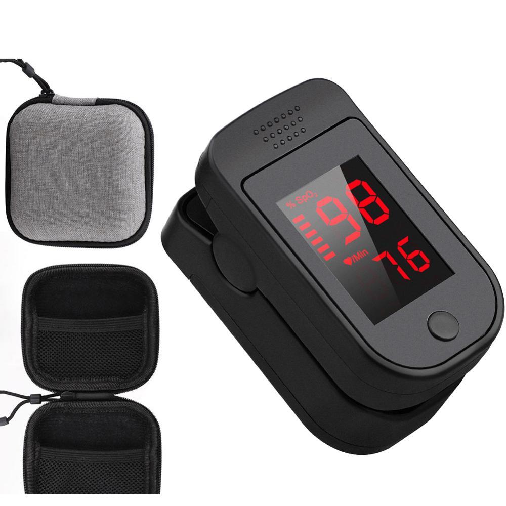 Medical Household Digital Fingertip pulse Oximeter With Case Blood Oxygen Saturation Meter Finger SPO2 PR Monitor health Care