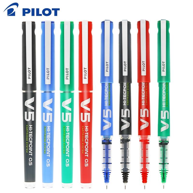 2 uds piloto de Japón de la pluma de gel recta de 0,7mm líquido pluma de bola de BXC-V tinta reemplazables BXS-IC estudiante de bolígrafo de gel para oficina pluma