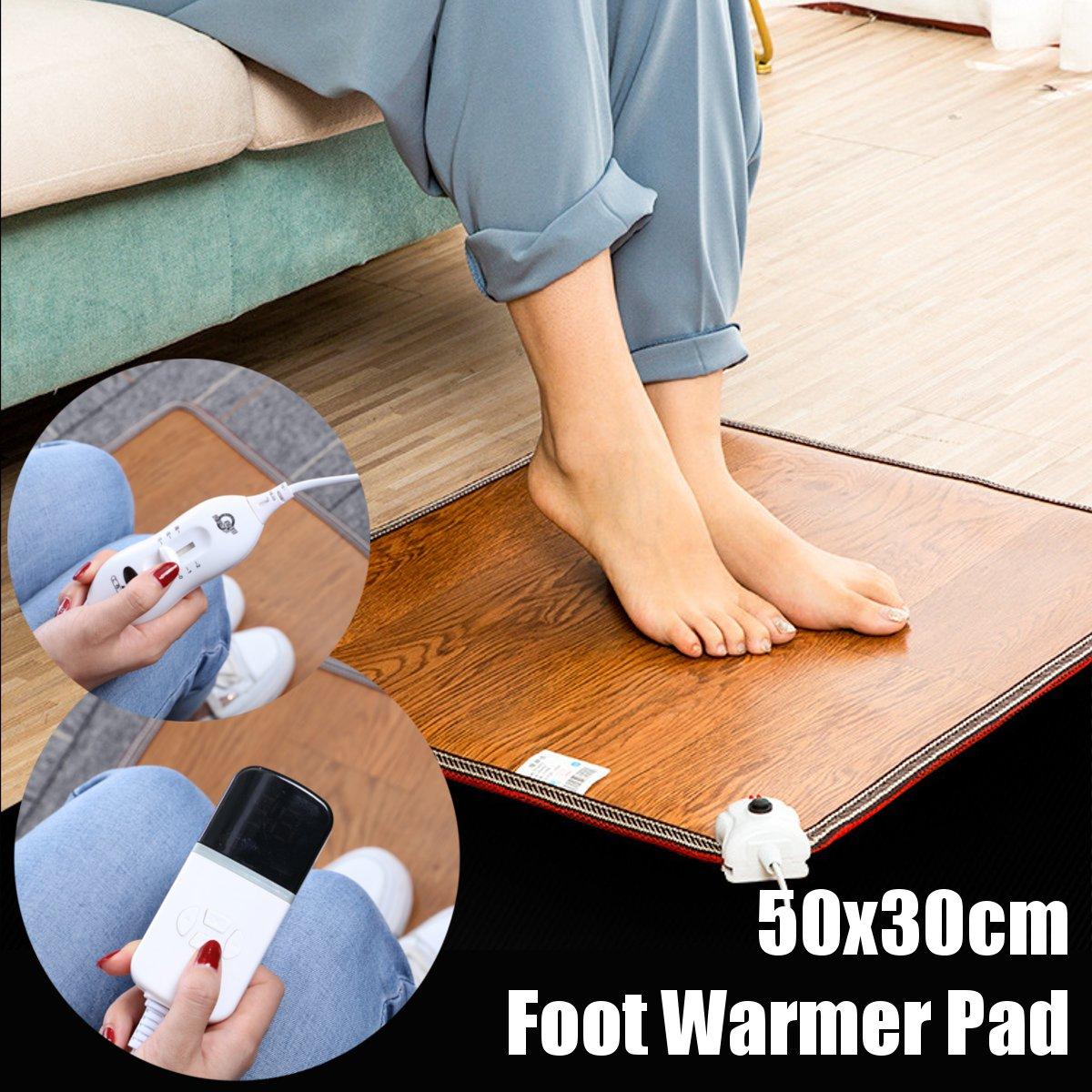 50x30cm جهاز تدفئة القدمين وسادة مكتب التدفئة الكهربائية الدافئة قدم ترموستات حصيرة السجاد