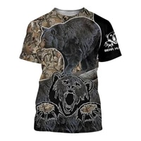 summer casual mens short sleeved funny bear and boar pattern 3d printing apparel unisex fashion top short sleeved t shirt s 5xl