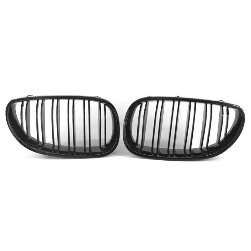2 uds rejillas de rejilla deportiva delantera de coche de doble línea para BMW 5 Series E60 E61 04-09