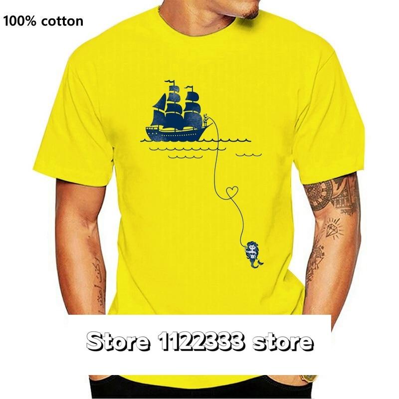 Camiseta larga de manga larga de marinero amor para hombre de camisa...