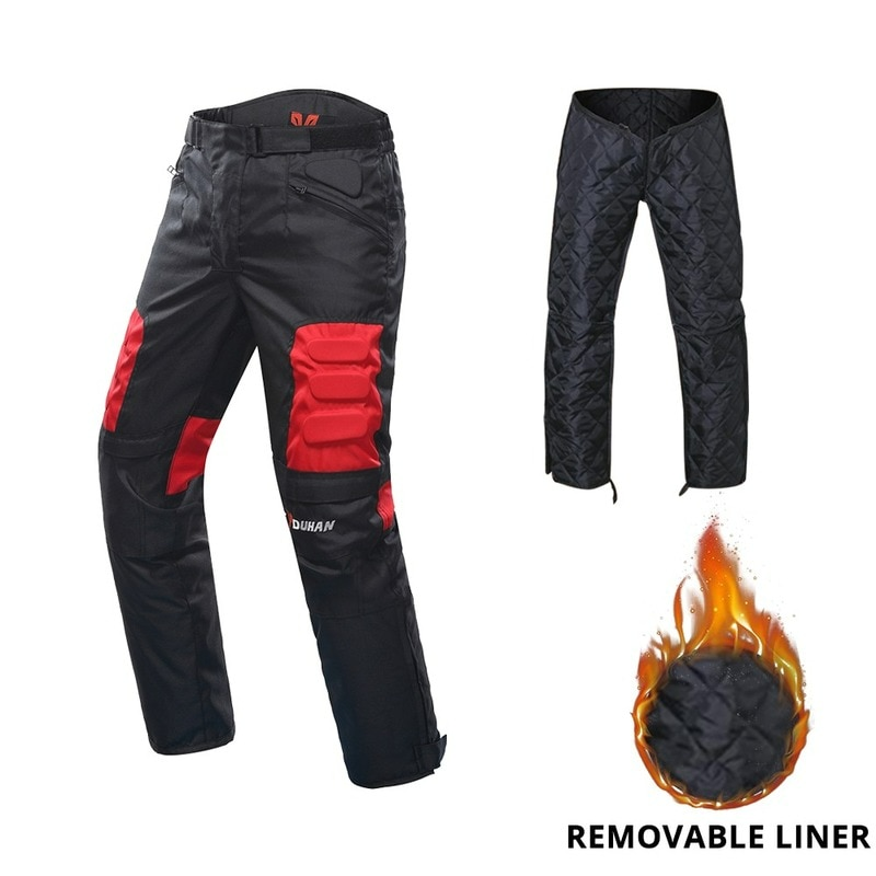 Motorcycle Pants Winter Cold Proof Moto Motocross Off-Road Racing Pants Motorbike Protective Trousers Have Cotton Lining