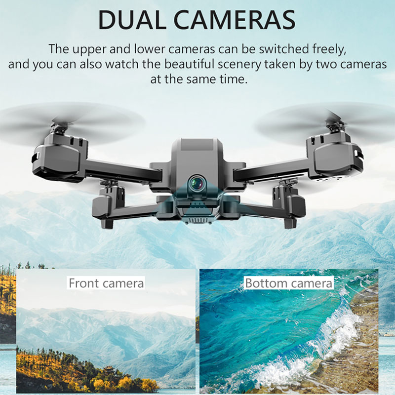 Profissional KF607 GPS Quadcopter Wifi FPV 1080P 4K HD Dual Camera Optical Flow Selfie Foldable Helicopter Mini Drone VS SG106 enlarge