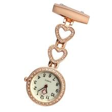 Mode femmes montre de poche coeur clipsable/étoile à cinq branches pendentif accrocher horloge à Quartz pour médecin infirmière montres B99
