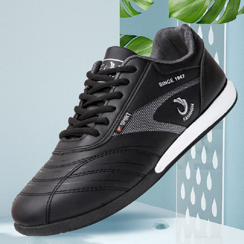 Sapatos casuais na moda tendência outono novos homens sapatos de couro sapatos de corrida cross-border
