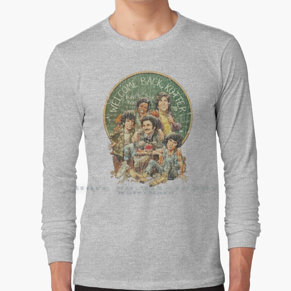Welcome Back , Kotter 1975 T Shirt 100% Pure Cotton 1970s 1975 Mr Kotter Sweathogs James Buchanan High Tv Retro Vintage Teacher