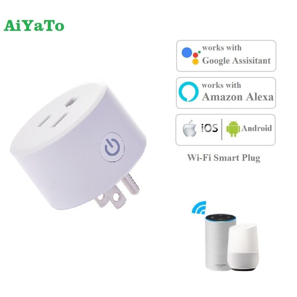 Enchufe inteligente AiYaTo WiFi, enchufe que funciona con Apple HomeKit (iOS12 o +), temporizador con asistente de Alexa/Google No se necesita Hub FCC y DoHome