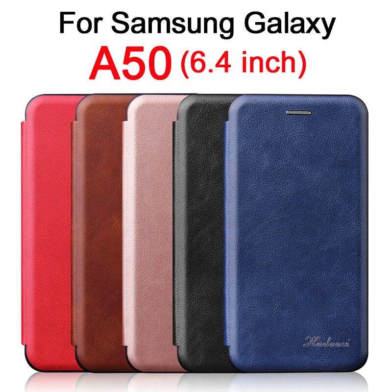 Sam A50 Wallet flip Case For Samsung Galaxy A 50 50A KickStand leather Cover Cam SamsungA50 GalaxyA50 glaxay Bumper Luxury Coque