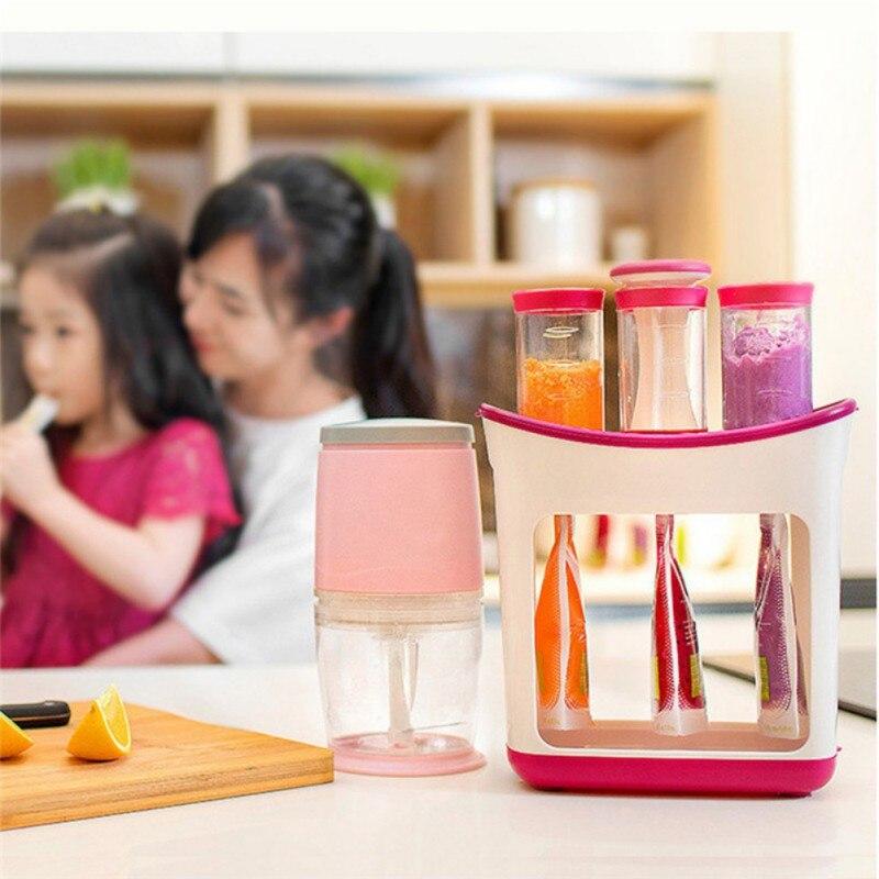 Exprimidor de Puree para niños, suplemento de alimentos para bebés, utensilios de cocina, máquina para almacenar alimentos, bolsas de prensa suave