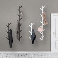 Mrosaa bambou en bois suspendu portemanteau mur crochet vêtements cintre salon chambre décoration cintre étagères murales 6/8/10 crochets