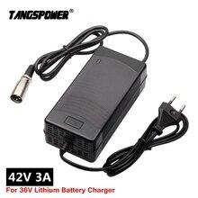 Chargeur de batterie de Scooter électrique 42V 3A pour chargeur de vélo électrique de batterie au lithium 36V avec prise/connecteur XLR à 3 broches