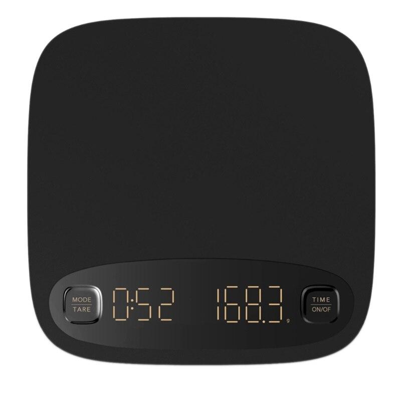 القهوة ميزان إلكتروني USB شحن مقياس القهوة الذكية مع وظيفة توقيت تحميص مقياس اليد القهوة ميزان إلكتروني LXAC