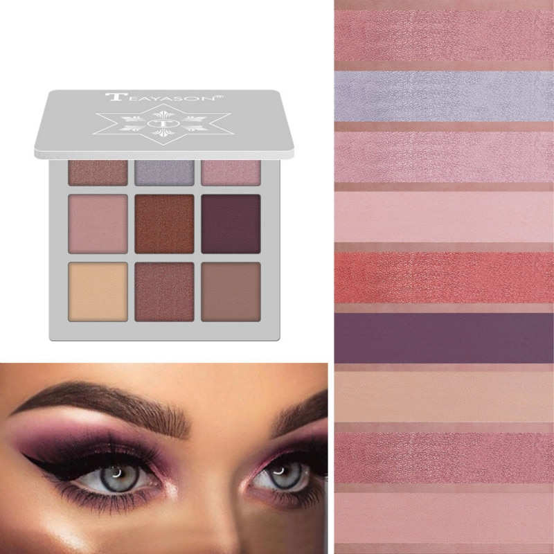 Longa duração não-bloomong paleta de sombra multi-color à prova dfade água sem desvanecer shimmer matte moda feminina maquiagem dos olhos cosméticos tslm2