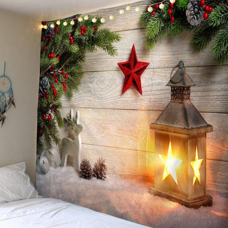 Tapiz colgante de pared de Navidad Luz de Navidad hogar Deco muñecos de nieve navideños tapices de impresión tapices de gran tamaño envío gratis