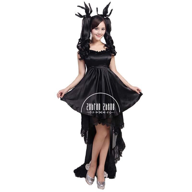 Custom Made Vocaloid Hatsune Miku Deep Sea Menina Traje Cosplay Hallween Vestido Das Mulheres Vestido Da Menina de Vestido de Saia Longa