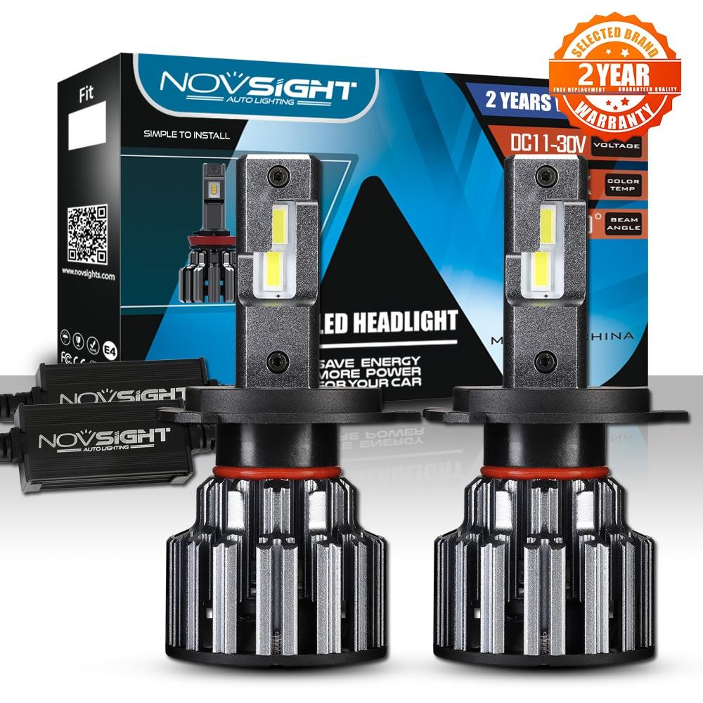 NOVSIGHT H4 Hola Lo haz bombillas LED de faro delantero de coche 90W 15000LM H7 H11 9005 LED 9006 automóvil faro luz delantera de 6000K 12V 24V