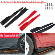 2 Stuks Car Side Rok Bumper Diffuser Spoiler Schorten Voor Bmw E46 E39 E90 E60 E36 F30 F10 E34 X5 e53 E30 F20 E92 E87 M3 M4 M5 X3 X6