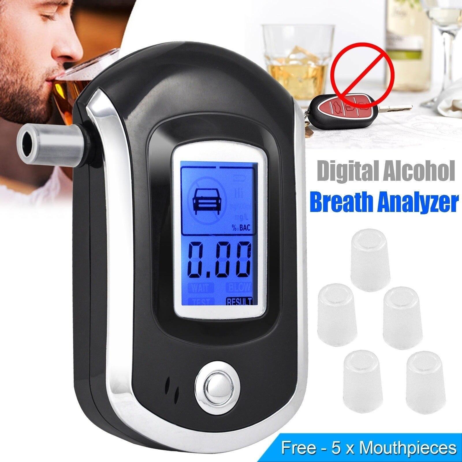 Professional Digital Breath Alcohol Tester Breathalyzer AT6000 Alcohol Breath Tester Alcohol Detector