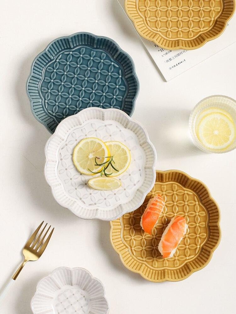 العظام طبق السيراميك المنزلية طاولة طعام البصاق العظام مسطح وير صغير الإبداعية الصحن طبق جانبي صغير الفاكهة طبق للوجبات الخفيفة