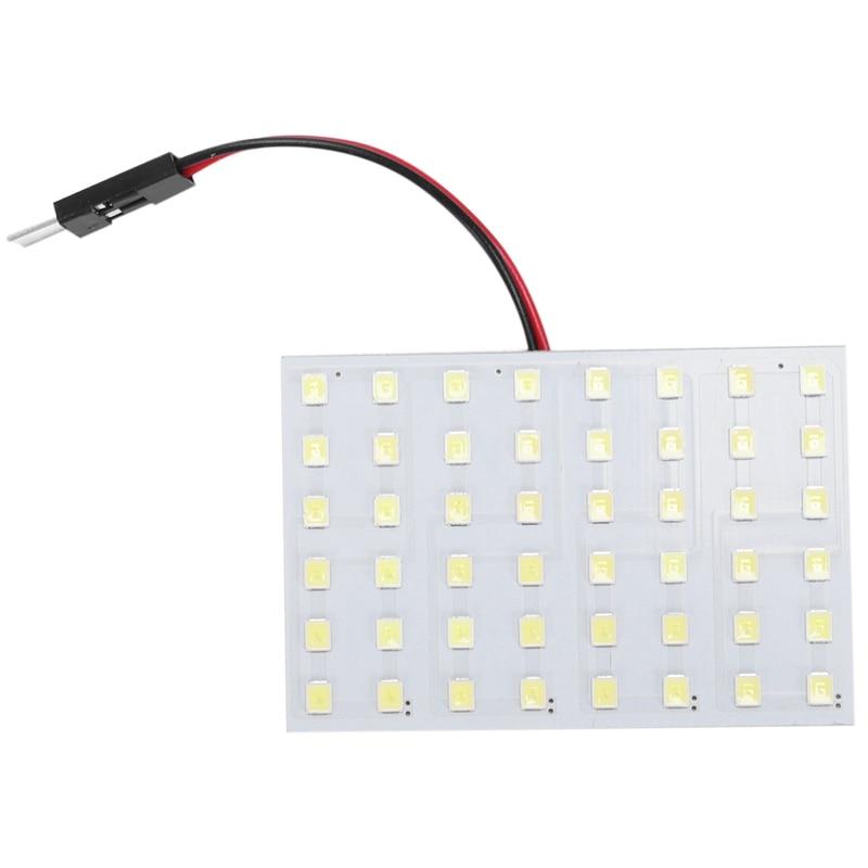 Blanco 1210 SMD 48 LED Interior del coche e Luz Panel w T10 BA9S Adorno