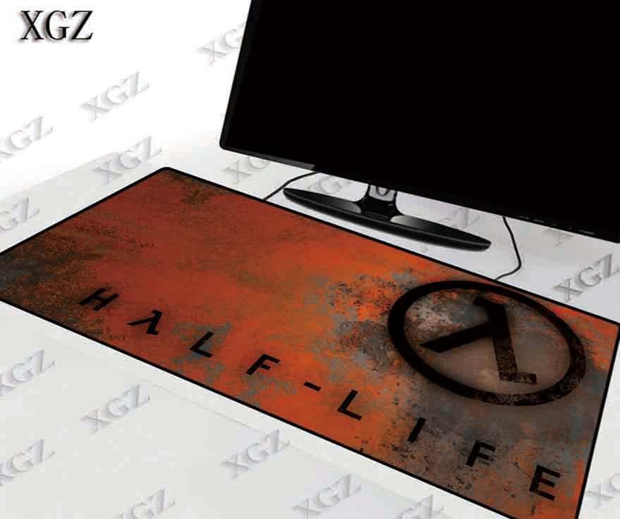 Alfombrillas de juego con Logo de media vida de XGZ alfombrilla de ratón grande para juegos almohadilla de borde de bloqueo para ordenador portátil Bloc de notas XXL