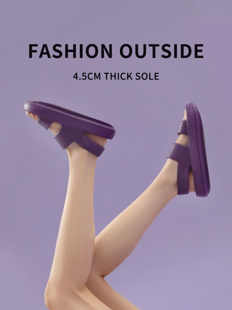AliExpress - UTUNE Sandals For Women Summer Platform Shoes Outside EVA Slippers Men Soft Beach Slides Thick Sole Non-slip Indoor des sandales