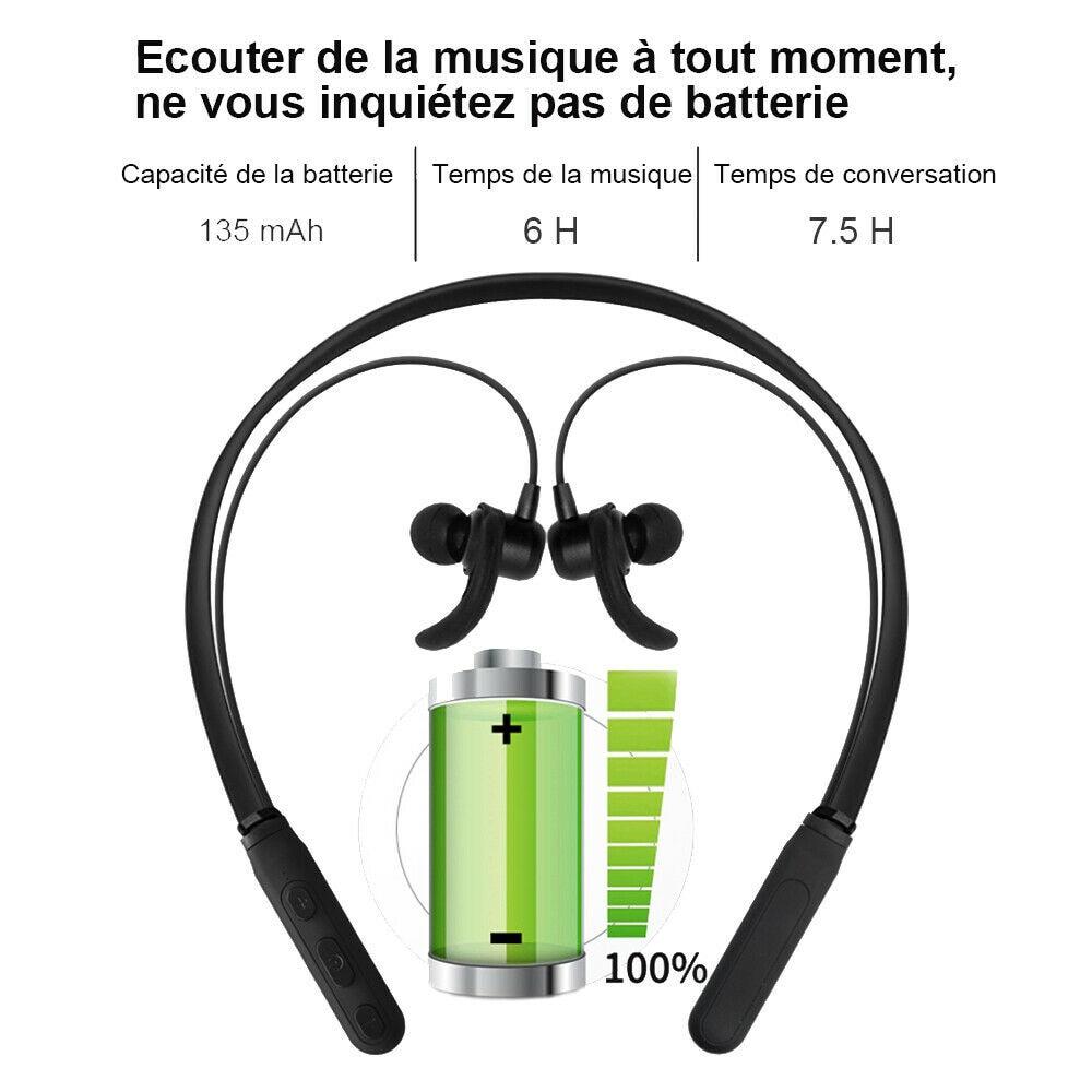 Casque Écouteur Bluetooth Sans Fil Sport Main-libre Oreillette Intra-auriculaire enlarge