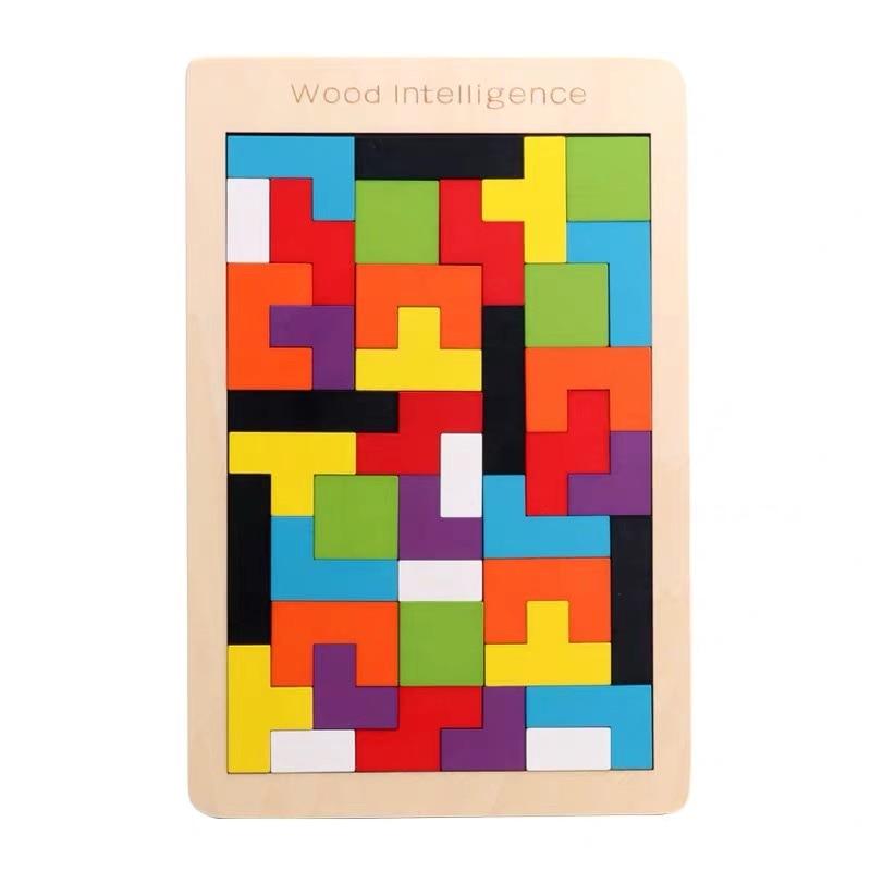 Tetris kindergarten puzzle toy Tetris building blocks puzzle toy