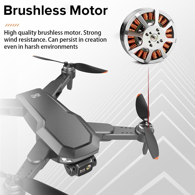 X1 Pro Anti Collision Camera Drone 6K HD GPS Professional 25mins 5G FPV Long Distance Brushless Quadcopter RC Dron PK KAIMAX enlarge