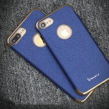 Étui 100% Original pour Apple iPhone 7 Plus coque arrière mince en ptu souple + housse de téléphone en cuir pour iPhone7 Plus