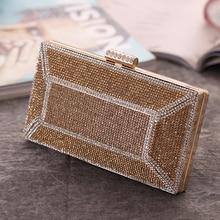 Stripped Women Evening Bags Rhinestones Lady Day Clutch Party Handbags Chain Shoulder Luxury Diamond