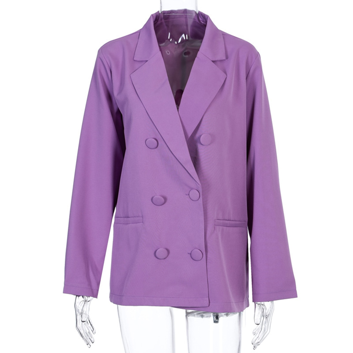 Женский однобортный Блейзер в винтажном стиле, свободный розовый официальный пиджак, верхняя одежда, 2021