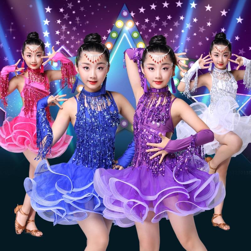 Children's Latin dance skirt costumes new style girls Latin dance competition dress tassel sequins Latin performance clothing corpus scriptorum historiae byzantinae volume 44 latin edition