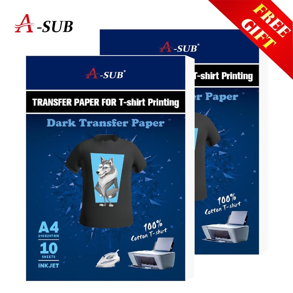 a3-a4-t-shirt-carta-di-trasferimento-per-color100-tessuti-di-cotone-panno-di-stampa-a-getto-d'inchiostro-scuro-di-disegno