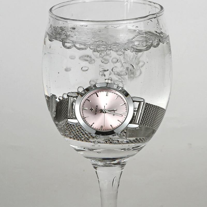 Top Brand Women Watch WWOOR Luxury Ladies Bracelet Watch Waterproof Quartz Small Clock Simple Pink Fashion Casual Women Watches enlarge