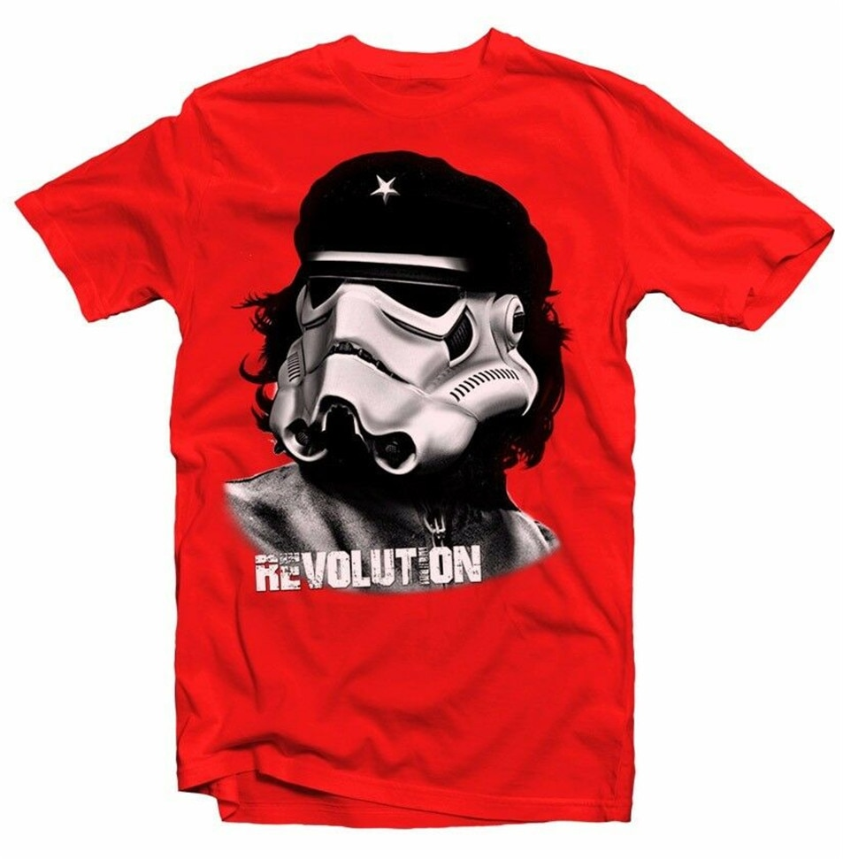 Stormtrooper Revolution Che Guevara camiseta roja Fn9337 Harajuku divertida camiseta