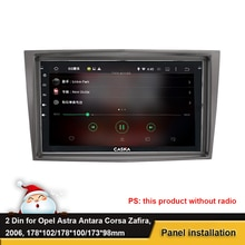 DVD Radio Stereo Panel Frame Mount Dash Installation Fascia For Opel Astra Antara Corsa Zafira 2006+ 2 Din Fascia Trim Bezel Kit