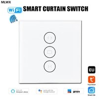 wifi smart curtain switch motorized roller blinds shutter smartlife tuya app remote control compatible with alexa echo