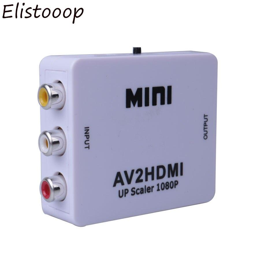 Mini AV2HDMI RCA AV zu HDMI-Kompatibel Konverter Box AV zu HDMI-Kompatibel Video Adapter für HDTV TV PC DVD Xbox Projektor