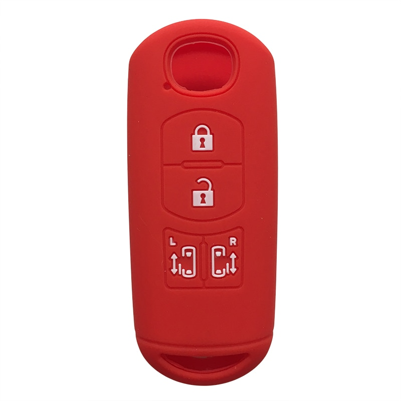 Silicone de borracha inteligente 4 botão portas deslizantes chave titular caso remoto para mazda cx9 cx8 biante mpv acessório interior guarda