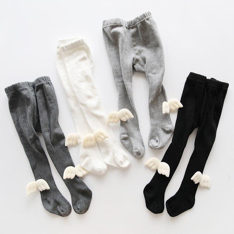 Medias de bebé de moda alas de niña recién nacida pantis para bebé medias de algodón gateo Protector de rodilla pantimedias para niña ropa de invierno