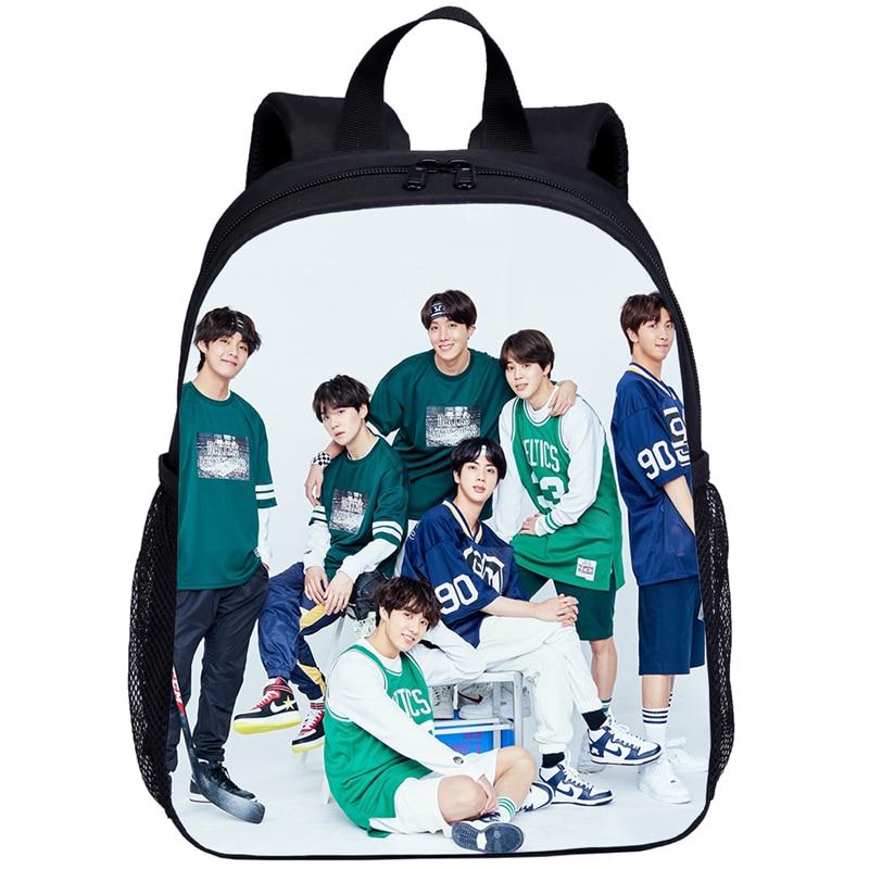 Bolsos escolares Kpop coreanos de moda para niños mochilas para niñas bonitas Jin suga J esperanza JIMIN V JUNGKOOK mochilas para jardín de infantes bolsa bonita infantil
