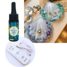 Handmade Resin Crafts DIY UV Lamp Crystal Epoxy Pigment Set Jewelry Making Tools