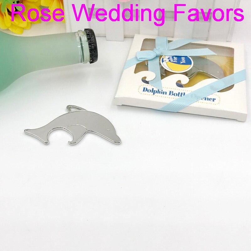 Abridor de botellas de vino de Diseño de delfín plateado, recuerdos de boda y despedida de soltera y regalo para el invitado 10 Uds.