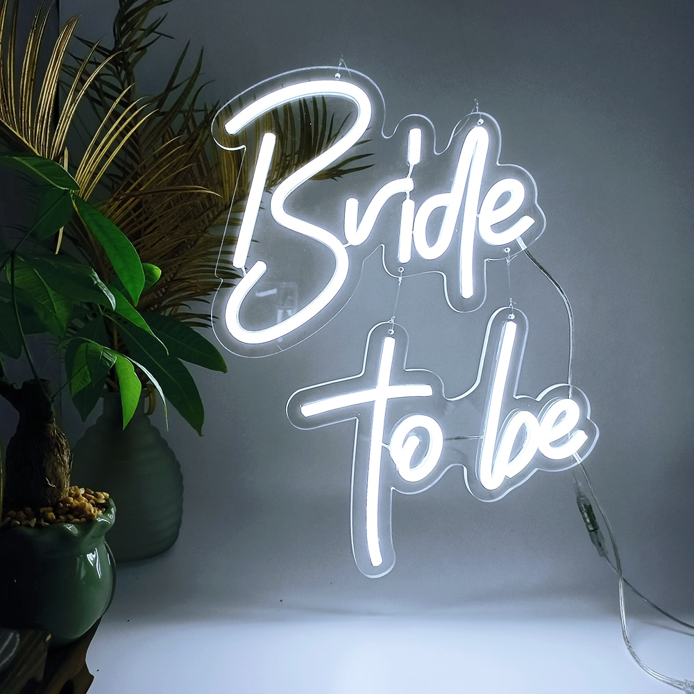 Custom Led Wedding/Happy Birthday Bride to Be Led Neon Sign Light for Wedding Party Bar Indoor Outdoor Decorative
