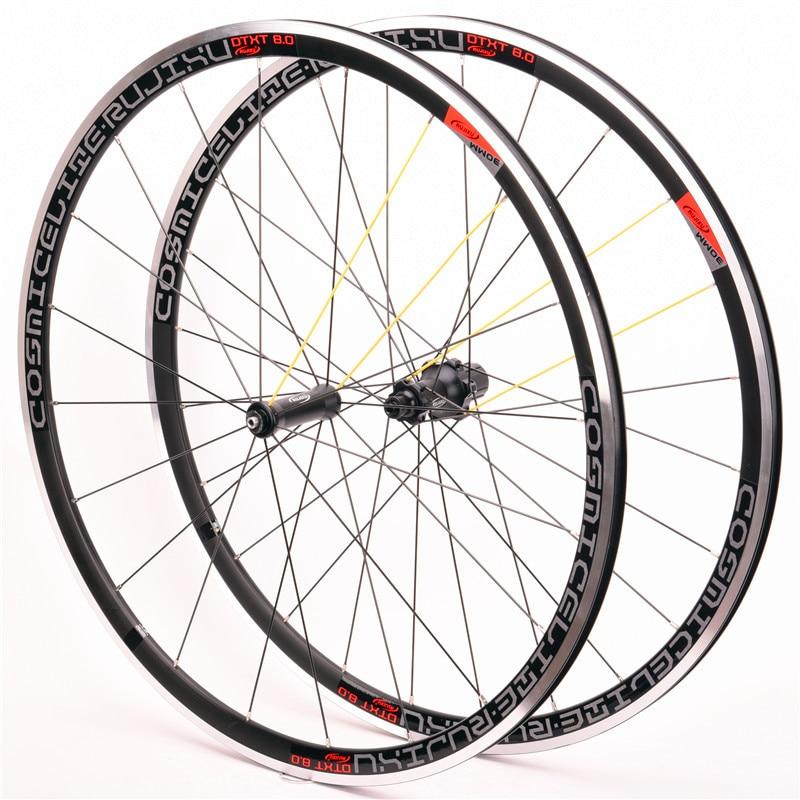 Ultra-light bike wheel set 700C 30mm V Brake Aluminium Alloy bmx road bicycle wheel straight pull 8-9-10-11 speed