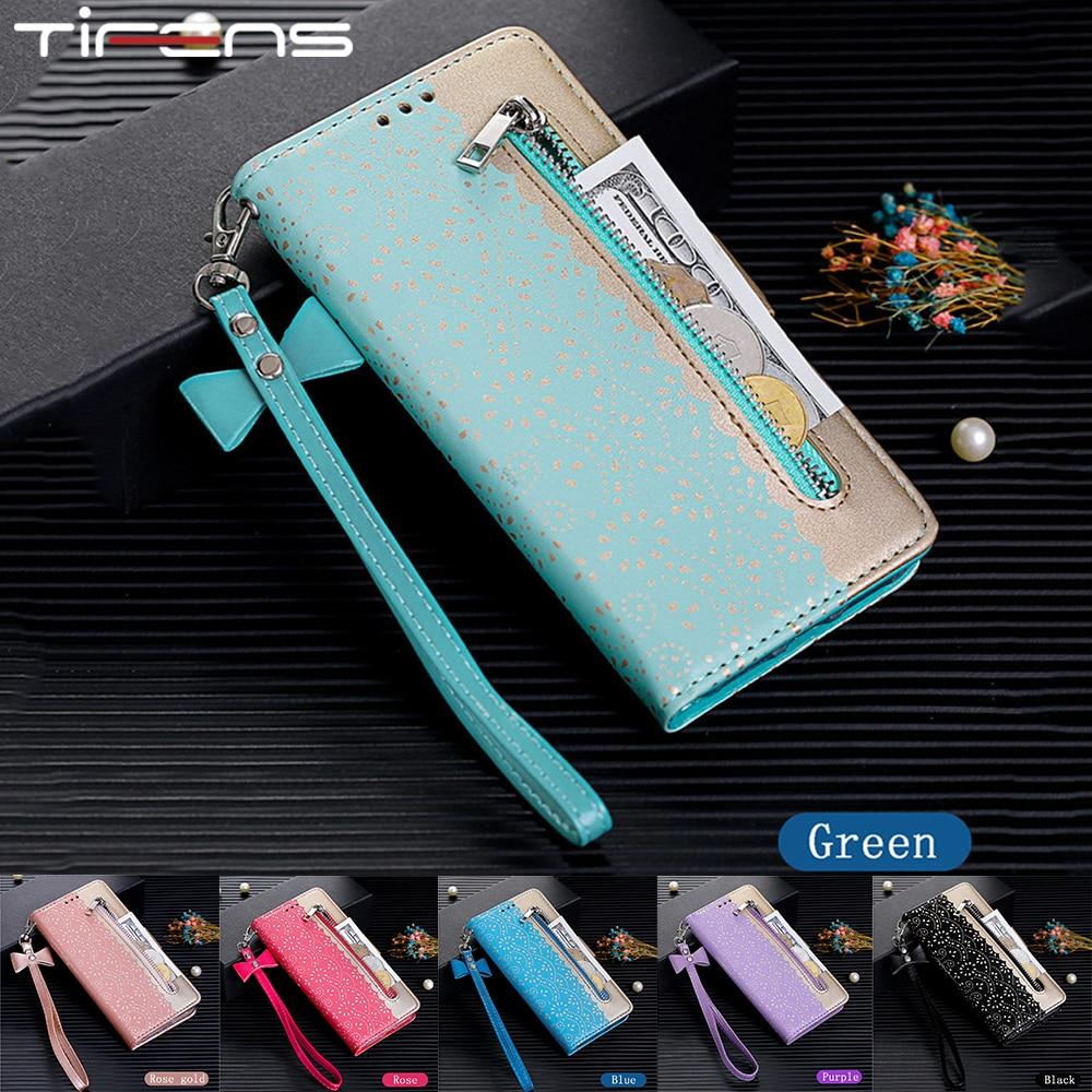 Magnetic Leather Zipper Flip Case For Xiaomi A3 9T CC9E Redmi 7A K20 Note 9 9S 8 7 Pro Max Wallet Ca