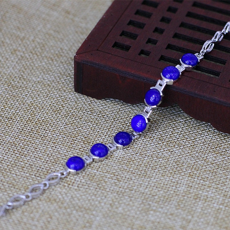 s925-sterling-silver-jewelry-fashion-temperament-ladies-natural-lapis-lazuli-bracelet-new-products