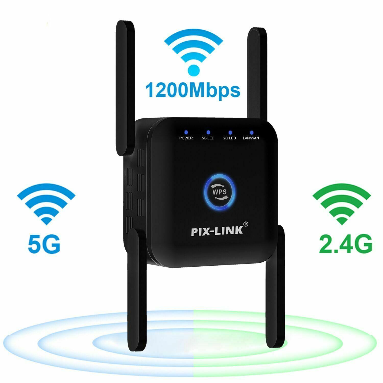 5G واي فاي مكرر واي فاي مكبر للصوت 5Ghz واي فاي طويلة المدى موسع 1200 متر اللاسلكية واي فاي الداعم المنزل واي فاي الإنترنت مكبر صوت أحادي